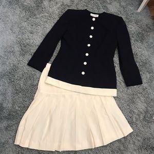 Vintage Christian Dior Skirt Jacket Suit, 12